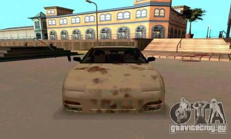 Nissan 240SX Rusted для GTA San Andreas вид сзади