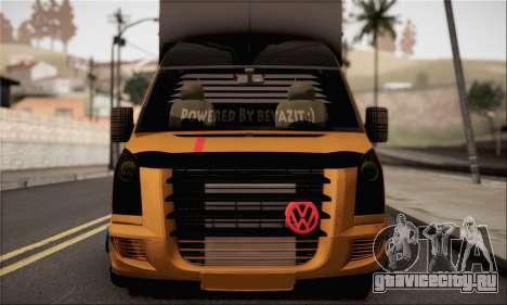 Volkswagen Crafter для GTA San Andreas вид сзади слева