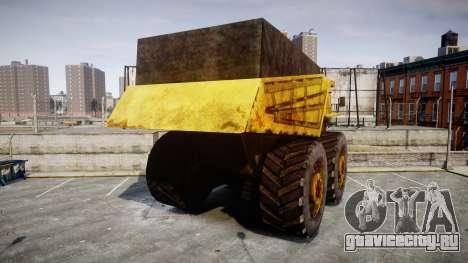 Mining Truck для GTA 4 вид сзади слева