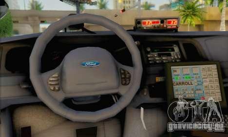 Ford Crown Victoria 1999 Walking Dead для GTA San Andreas вид сзади слева