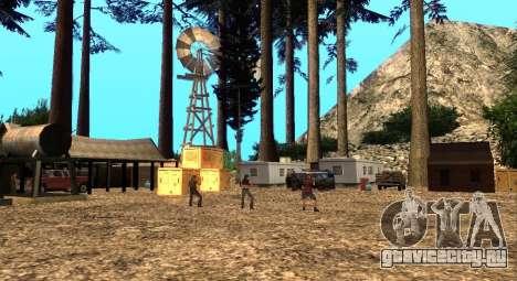 Лагерь Altruist на горе Чилиад для GTA San Andreas второй скриншот