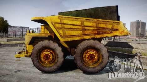 Mining Truck для GTA 4 вид слева