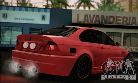 BMW M3 Coupe Tuned Version Burnout для GTA San Andreas вид слева
