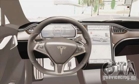 Tesla Model S 2014 для GTA San Andreas вид сзади слева