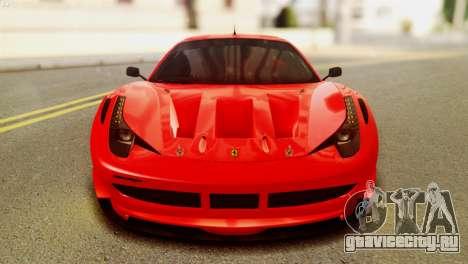 Ferrari 62 F458 2011 для GTA San Andreas вид справа