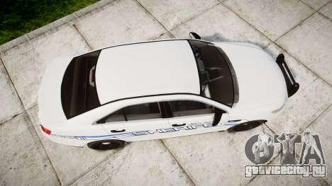 Ford Taurus 2014 [ELS] Liberty County Sheriff для GTA 4 вид справа