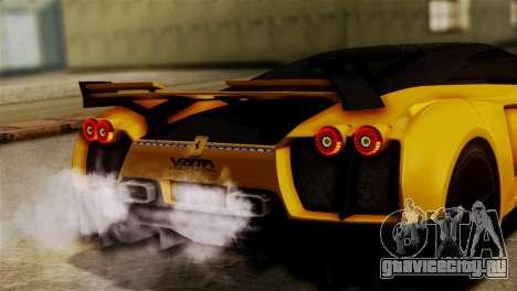 Ferrari Velocita 2013 SA Plate для GTA San Andreas вид справа