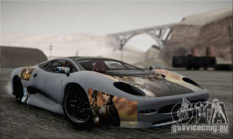 Jaguar XJ220S Ultimate Edition для GTA San Andreas вид сзади