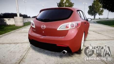 Mazda 3 MPS для GTA 4 вид сзади слева