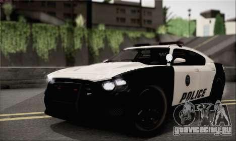 Bravado Buffalo S Police Edition (HQLM) для GTA San Andreas вид справа