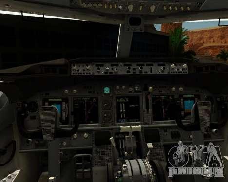 Boeing P-8 Poseidon US Navy для GTA San Andreas салон
