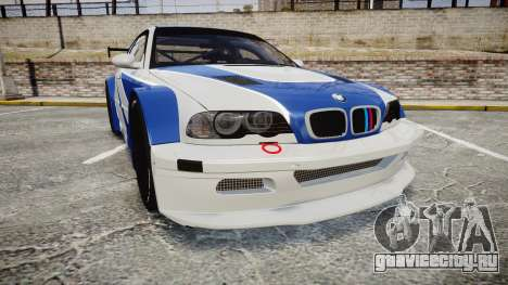 BMW M3 E46 GTR Most Wanted plate NFS MW для GTA 4