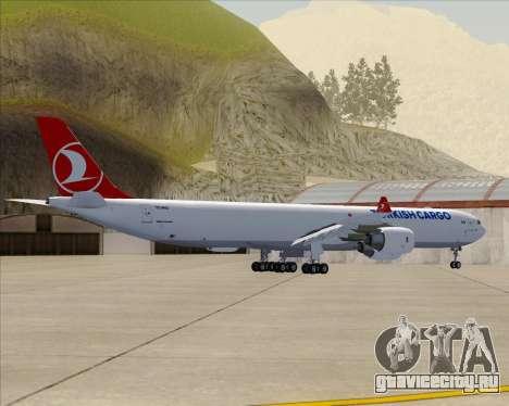 Airbus A340-600 Turkish Cargo для GTA San Andreas вид сзади