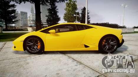 Lamborghini Huracan LP610-4 для GTA 4 вид слева
