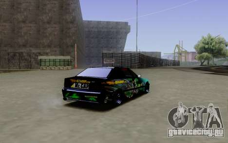 BMW M3 E36 Gorilla Energy Team для GTA San Andreas вид сзади слева