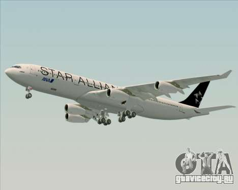 Airbus A340-300 All Nippon Airways (ANA) для GTA San Andreas вид изнутри