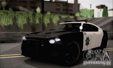 Bravado Buffalo S Police Edition (HQLM) для GTA San Andreas вид сзади слева