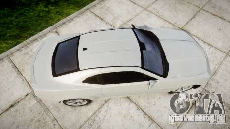 Chevrolet Camaro SS [ELS] Unmarked no side ligh для GTA 4 вид справа