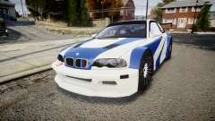 BMW M3 E46 GTR Most Wanted plate NFS ND 4 SPD
