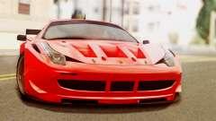 Ferrari 62 F458 2011 для GTA San Andreas