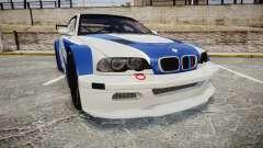 BMW M3 E46 GTR Most Wanted plate NFS MW для GTA 4