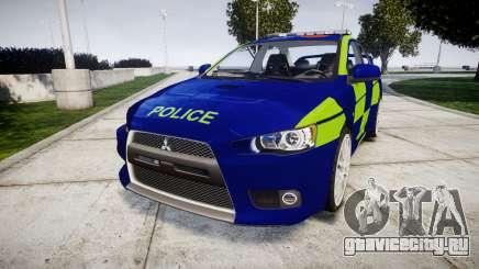 Mitsubishi Lancer Evolution X Police [ELS] для GTA 4