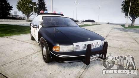 Chevrolet Caprice 1991 LAPD [ELS] Traffic для GTA 4