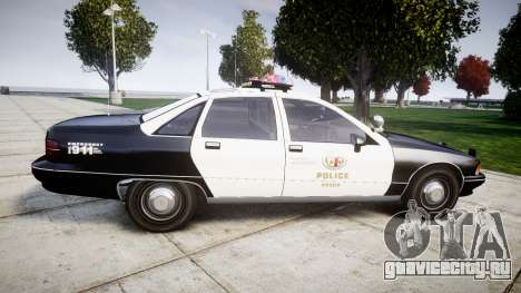 Chevrolet Caprice 1991 LAPD [ELS] Traffic для GTA 4 вид слева