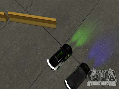 Mitsubishi Lancer Evo 9 Monster Energy для GTA San Andreas вид сзади