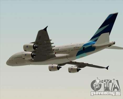 Airbus A380-800 Garuda Indonesia для GTA San Andreas вид сзади слева