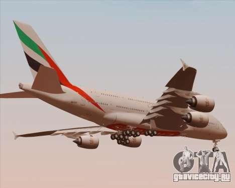 Airbus A380-800 Emirates 40 Anniversary Sticker для GTA San Andreas вид сверху