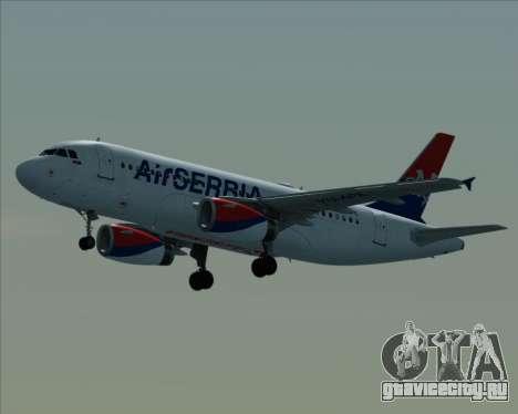 Airbus A319-100 Air Serbia для GTA San Andreas вид изнутри