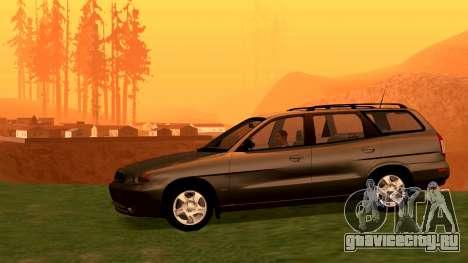 Daewoo Nubira I универсал CDX США, 1999 г. для GTA San Andreas вид справа