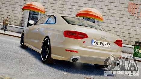 Audi RS4 B8 2013 v1 для GTA 4 вид слева