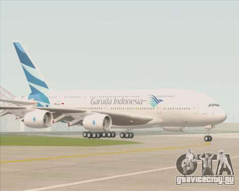 Airbus A380-800 Garuda Indonesia для GTA San Andreas вид сверху