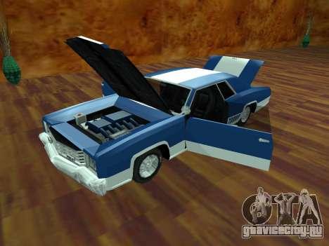 Buccaneer Turbo для GTA San Andreas вид сзади слева