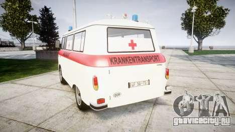 Barkas B1000 1961 Ambulance для GTA 4 вид сзади слева