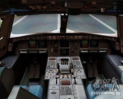 Airbus A380-800 Emirates 40 Anniversary Sticker для GTA San Andreas салон