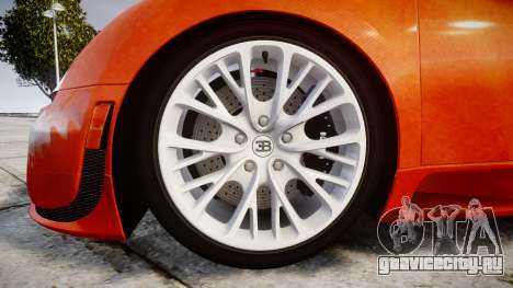 Bugatti Veyron 16.4 SS [EPM] Halloween Special для GTA 4 вид сзади