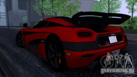 Koenigsegg One:1 2014 для GTA San Andreas вид сзади слева