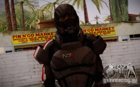 Shepard Default N7 from Mass Effect 3 для GTA San Andreas третий скриншот