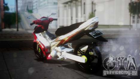 Yamaha Jupiter Mx для GTA San Andreas вид сзади слева
