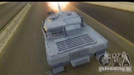 GTA V Rhino V2 для GTA San Andreas вид слева