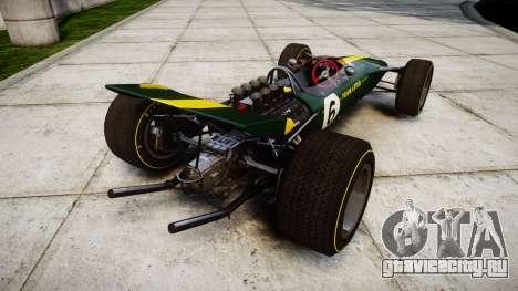 Lotus Type 49 1967 [RIV] PJ5-6 для GTA 4 вид сзади слева