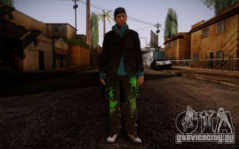 Aiden Pearce from Watch Dogs v9 для GTA San Andreas