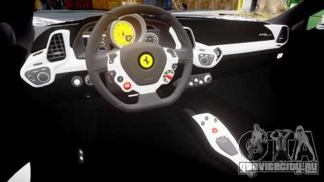 Ferrari 458 Italia 2010 v3.0 Sharpie для GTA 4 вид изнутри