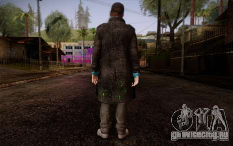Aiden Pearce from Watch Dogs v9 для GTA San Andreas второй скриншот