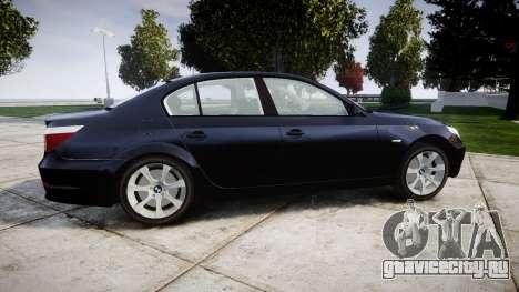 BMW 525d E60 2009 Police [ELS] Unmarked для GTA 4 вид слева