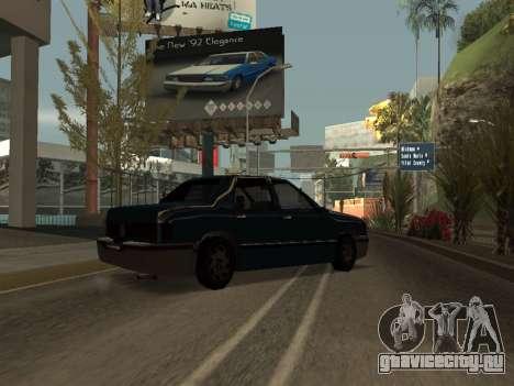 Beta Elegant для GTA San Andreas вид сзади слева