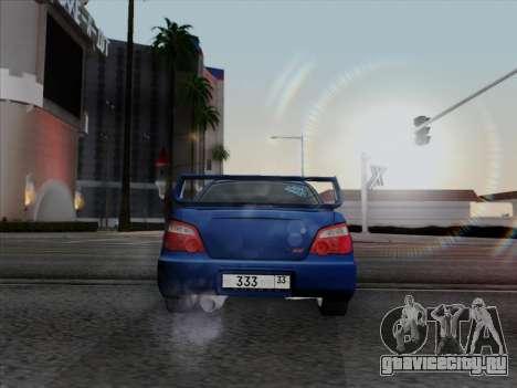 Subaru impreza WRX STI 2004 для GTA San Andreas вид слева